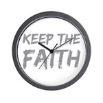 Keep The Faith Wall Clock