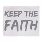 Keep The Faith Throw Blanket