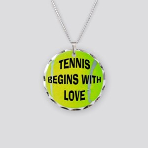Tennis Love Necklace Circle Charm
