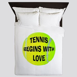Tennis Love Queen Duvet