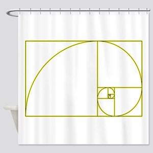 Golden Ratio Shower Curtain