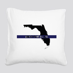 Back the Blue Florida Square Canvas Pillow