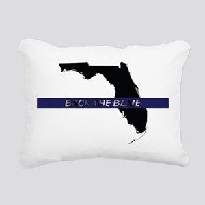 Back the Blue Florida Rectangular Canvas Pillow