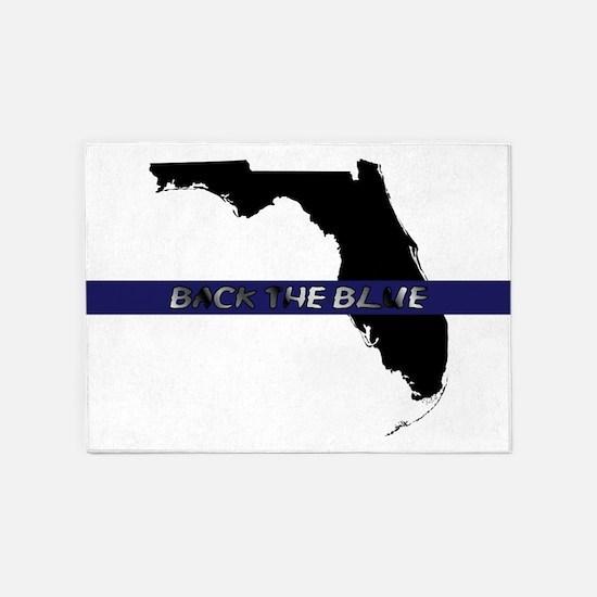 Back the Blue Florida 5'x7'Area Rug