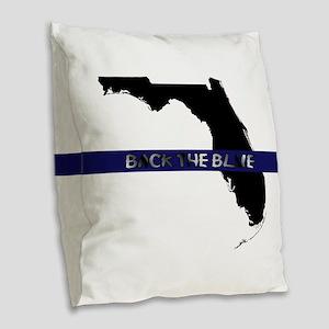 Back the Blue Florida Burlap Throw Pillow