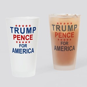 Trump Pence America Drinking Glass