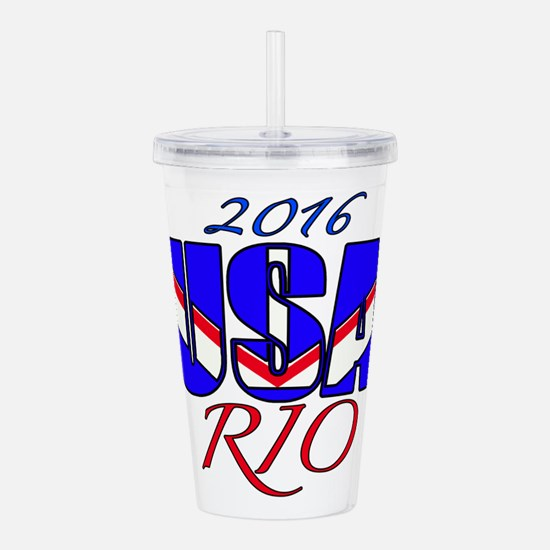 2016 USA RIO Acrylic Double-wall Tumbler