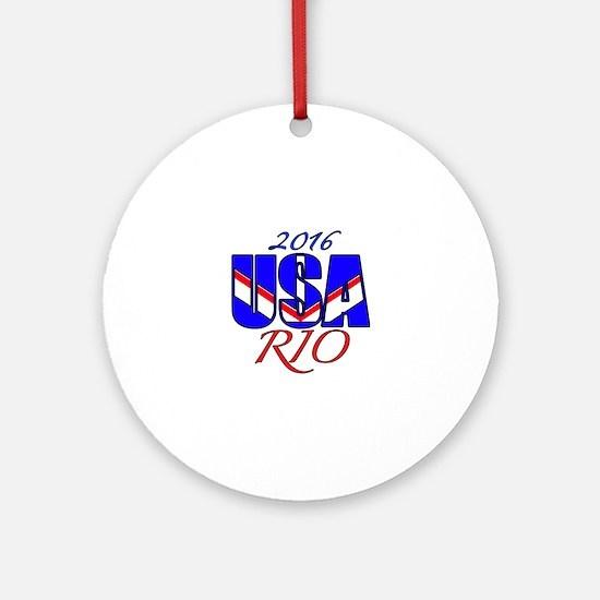 2016 USA RIO Round Ornament