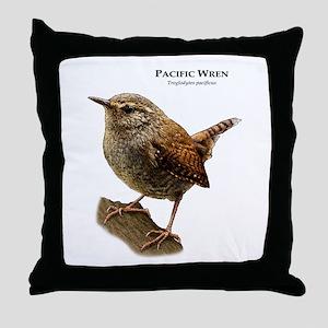 Pacific Wren Throw Pillow