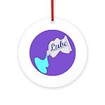 Lube Logo Round Ornament