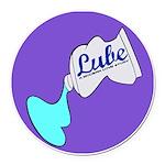 Lube Logo Round Car Magnet