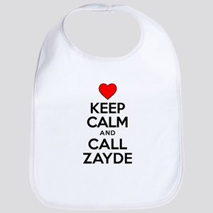 Keep Calm Call Zayde Bib