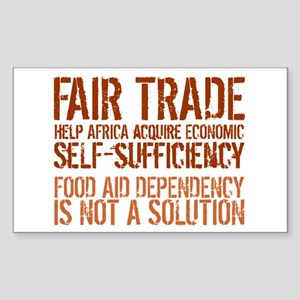 Fair Trade Rectangle Sticker