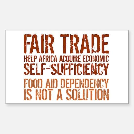 Fair Trade Rectangle Decal