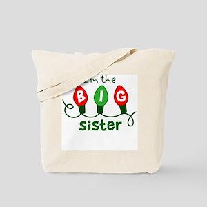Big Sister Christmas lights Tote Bag