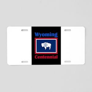 Centennial Wyoming Aluminum License Plate