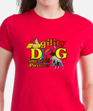 German Shorthair Agility Women's Dark T-Shirt