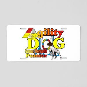 German Shorthair Agility Aluminum License Plate