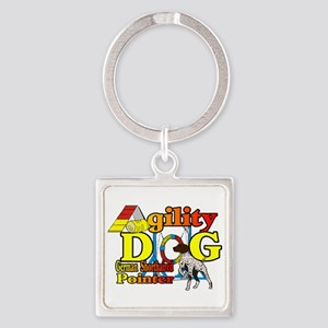 German Shorthair Agility Square Keychain