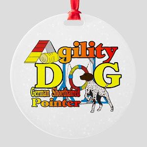 German Shorthair Agility Round Ornament