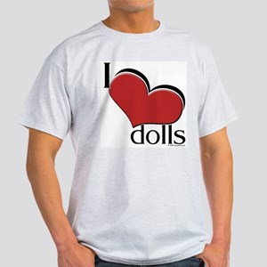 "I ""heart"" dolls Ash Grey T-Shirt"