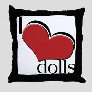 """I """"heart"""" dolls Throw Pillow"""
