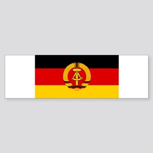 Flagge der DDR - Flag of the GDR (E Bumper Sticker