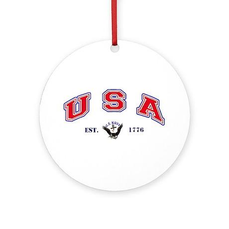 USA-USN 1776 Ornament (Round)
