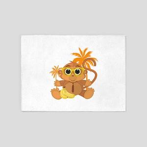 Monkey Nerd 5'x7'Area Rug