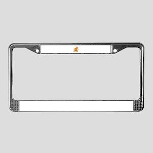 Monkey Nerd License Plate Frame