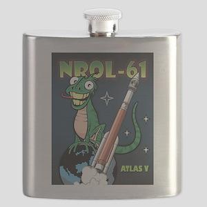 NROL 61 Mission Art Flask