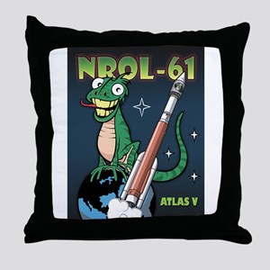 NROL 61 Mission Art Throw Pillow