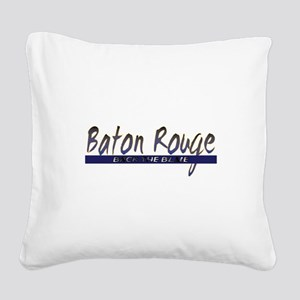 Back the Blue Baton Rouge Lou Square Canvas Pillow