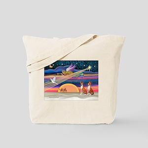 XmasStar/2 Basenjis Tote Bag
