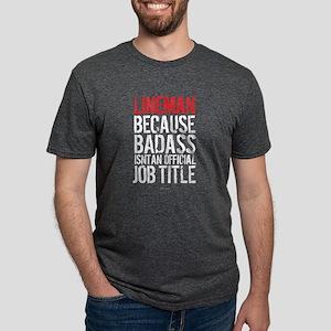 Lineman Badass Job Title T-Shirt