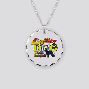 Irish Water Spaniel Agility Necklace Circle Charm