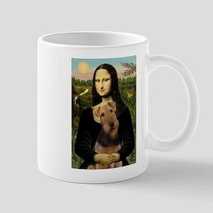 Mona Lisa & Airedale Mugs
