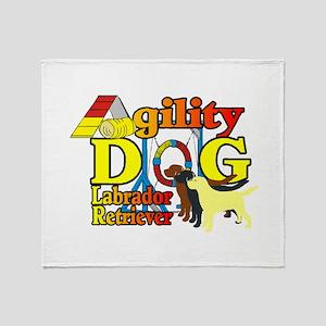 Labrador Retriever Agility Throw Blanket