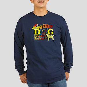 Labrador Retriever Agilit Long Sleeve Dark T-Shirt