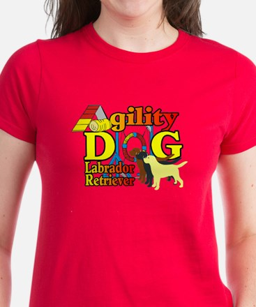 Labrador Retriever Agility Women's Dark T-Shirt