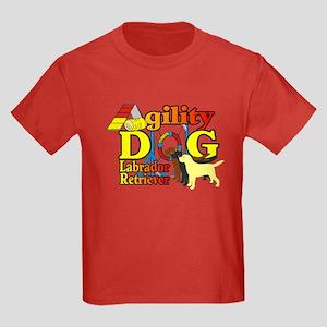Labrador Retriever Agility Kids Dark T-Shirt