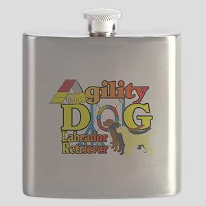 Labrador Retriever Agility Flask