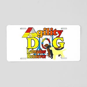 Labrador Retriever Agility Aluminum License Plate