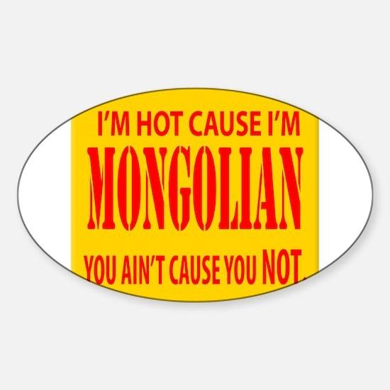 Hot Mongolian Oval Decal
