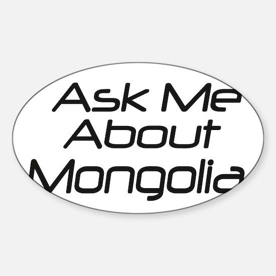 Ask Mongolia Oval Decal