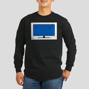Computer Screen Bullet Holes Long Sleeve T-Shirt