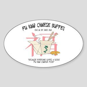 Fu King Chinese Buffet Oval Sticker