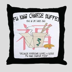 Fu King Chinese Buffet Throw Pillow