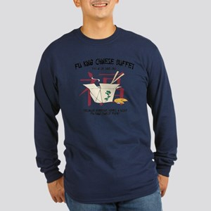 Fu King Chinese Buffet Long Sleeve Dark T-Shirt