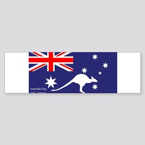 Australia Day Kangaroo Bumper Sticker